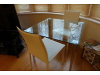John Lewis Glass Table 85cm square excellent condition