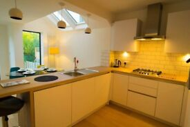 Magnificent Victorian terraced house. Renovated, two bdrms, garden, long or short term. bills incls