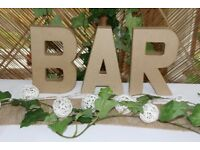BAR letters (SIGN)