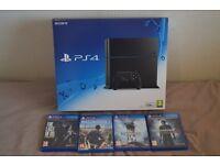 Sony Playstation 4 Black 500GB + 4 Games