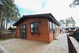 Cosalt Lautrec Lodge at Lilliardsedge next to golf course