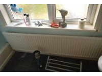 White Radiator Central Heating long