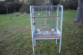 BIRD CAGE, LARGE, FREE STANDING, SUIT PARROT OR LARGER BIRD.