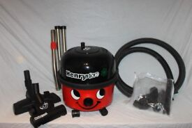 Boxed Numatic Red Henry Micro Hoover with twin heads - hairio brush. As new.