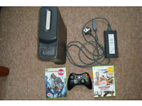 Xbox 360 120gb console wireless controller games
