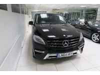 MERCEDES-BENZ M CLASS 2.1 ML250 CDI BlueTEC AMG Sport 7G-Tronic Plus 4x4 5dr Auto (black) 2014