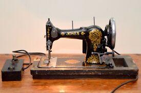 VINTAGE JONES FAMILY C.S SEWING MACHINE