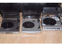 SONY/BUSH 2 RECORD PLAYERS ONE WITH SPEAKERS 30 POUND EACH