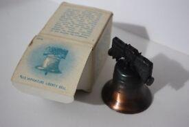 MINT CONDITION, Vintage #610 Miniature Metal Liberty Bell USA Penncraft Pennsylvania Boxed Souvenir