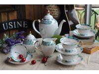 Vintage Fine China Coffee Tea Set 11 Pieces (New)