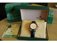 NO POSTAGE STUNNING BRAND NEW ROLEX LADIES DAYTONA OYSTER WITH BOX AND PAPERS