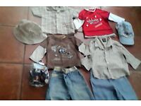 6-9 mths Boy's summer/Sun holiday bundle x9 £12 OVNO