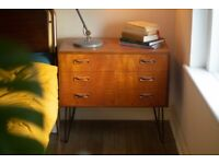 Mid Century Retro Vintage Hairpin Chest Of Drawers x2 (Price per unit)
