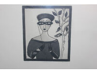 Large Framed Ltd Edition Art Print (20/50) by Irish Artist Gay O'Neill Picture Titled Lorgnette