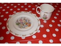 Royal Doulton Bunnykins Side Plate and Cup - never used but not in original box