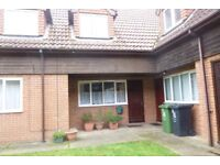 Spacious 2 bedroom unfurnished Terraced House in Hemsby. All rooms off landing, parking space, NSH