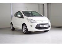 2010 Ford Ka 1.3 TDCi Zetec In White Full Service History, FINANCE AVAILABLE