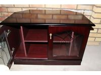 Wooden TV / DVD Player cabinet with Glass Doors