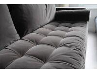 BRAND NEW MADE 3 Seater Velvet Grey Sofa
