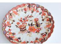 "Vintage Antique Plate Bishop Stonier England 8"" 21cm Display Plate Scalloped Vintage"