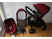 iCandy Peach 3 (2016 Claret) pram pushchair complete travel system 3 in 1 CAN POST