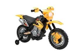 Kids Mini Motocross 6v Scrambler Battery Operated Electric Motorbike - Yellow
