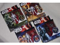 4 x Star Wars TFA FIRST ORDER TROOPERS Armour Up figures inc FINN FN-2187 / STORMTROOPER etc -NEW