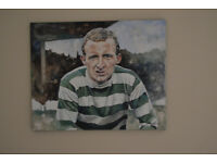 """""""Wee Jinky"""", an original oil painting of Jimmy Johnstone. The greatest ever Celt."""