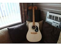 A MARLIN ML- SEAGULL ACOUSTIC GUITAR WITH MAPLE FRETBOARD