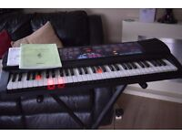 CASIO KEY LIGHTS UP KEYBOARD/MANUEL/STAND/ADOPTER