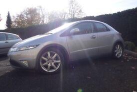 Honda Civic 1.8 i-VTEC EX. Top of the range with Sat Nav & parking sensors. 12 months MOT & FSH.