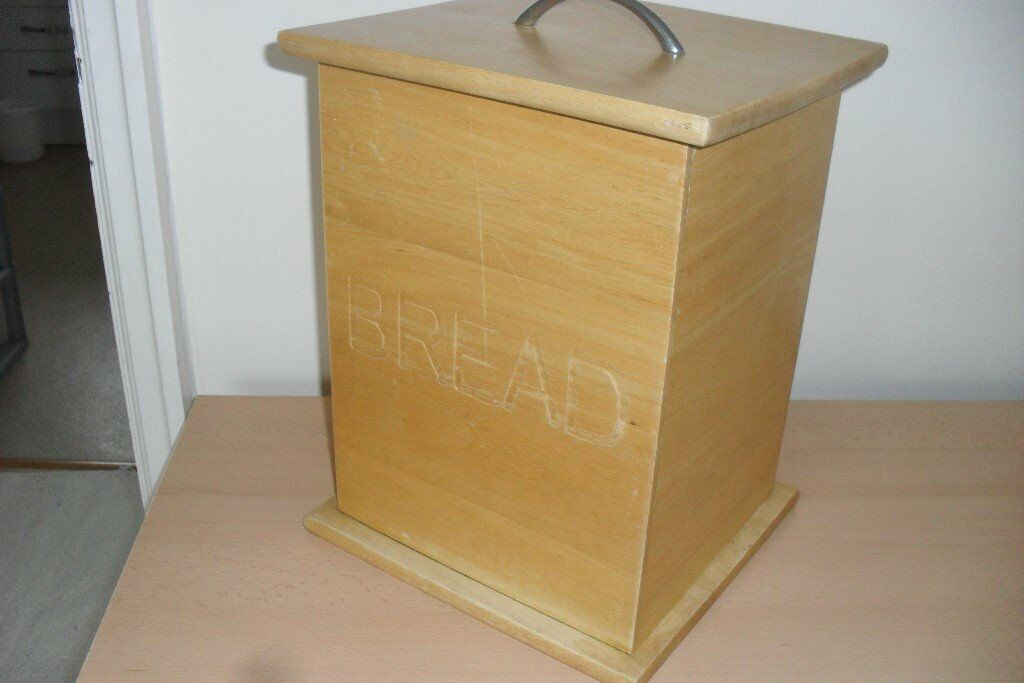 Wooden bread binin York, North YorkshireGumtree - Wooden bread bin. Solid and clean. Looks better than in photo although there is a slight scratch on front but not deep