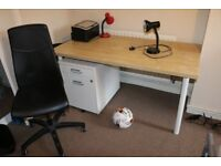 moving out: table, desk chair, filing cabinet, night stand, table lamps ++ for sale