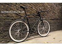 SALE ! GOKU cycles Steel Frame Single speed road bike TRACK bike fixed gear bike racing bike Q6