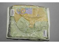 2 piece baby bedding set (lampshade and padded cot bumper)