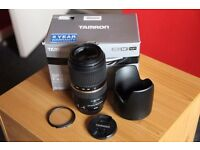 Tamron SP AF 70-300 F/4-5.6 Di VC USD Lens for Canon - Mint Condition