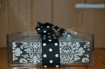 New Lady Jayne Bw Damask Note Pad Wacrylic Holder And Pen 290 Sheets 4611