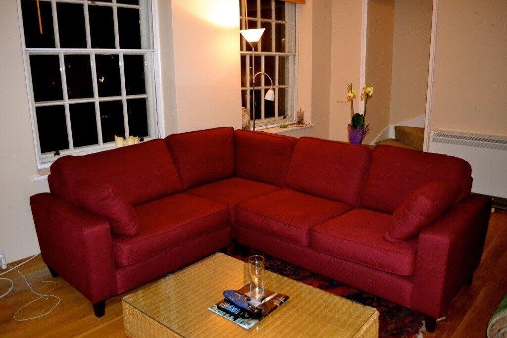 Huge Comfy Red Corner Sofa