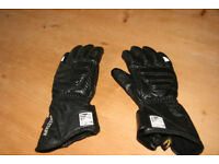 Ladies Belstaff Black Leather Mototcycle Gloves size LS