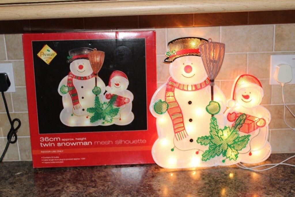 Illuminated Christmas Decorations Santa Snowman Xmas Tree
