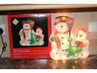 illuminated Christmas decorations Santa Snowman Xmas Tree X4 Job Lot