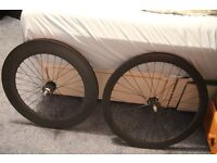 Carbon Track, fixed gear, single speed, time trial wheels 88mm/50mm