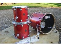 NATAL 'Originals' 5 drum pro shell pack in Ash wood. Massive saving on new!