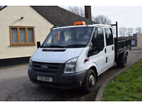 2011 FORD TRANSIT TIPPER EUROTEC low mileage,clean NO VAT