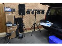 PA D/J equipment with Lighting/smoke machine/microphones. All in full working order .