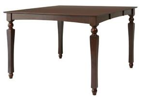Onoway Solid Wood Dining Table Counter Height In Mahogany