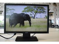 "19"" Acer Monitor with power cable. DVI / VGA cable available for free on request."