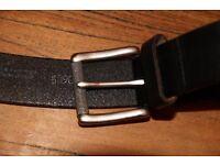 Men's Black Leather Belt (W36)