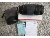 Canon 75-300mm lens w/ Canon bag