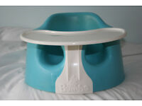 Authentic BUMBO blue baby seat & tray, for safety, feeding, play & activity - collect nr. Swansea Vy